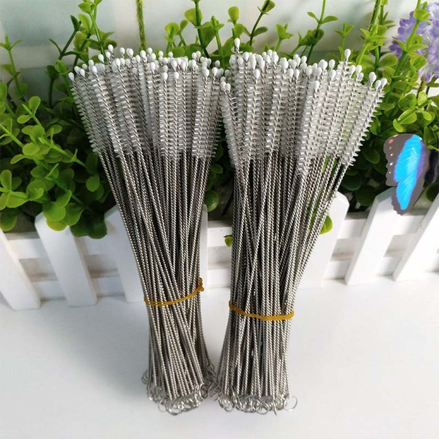 10Pcs Nylon Baby Bottle Accessories Straw Cleaners Brush for Drinking Cup Pipe Stainless Steel Bottle Pipe Cleaner