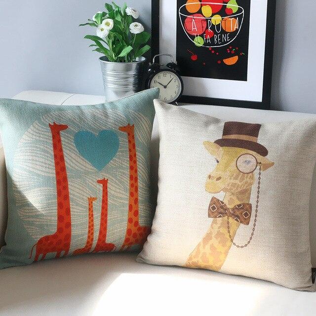 Children's Room Cute Cartoon Pillow Giraffe Pillow Cushion New Children's Decorative Pillows
