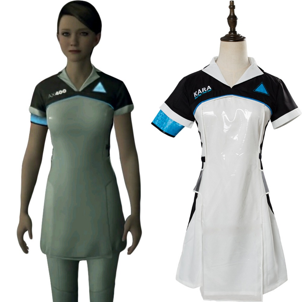 Detroit: Become Human Cosplay Costume Code AX400 KARA Cosplay Agent Outfit Girls Dress Halloween Carnival Cosplay Costumes