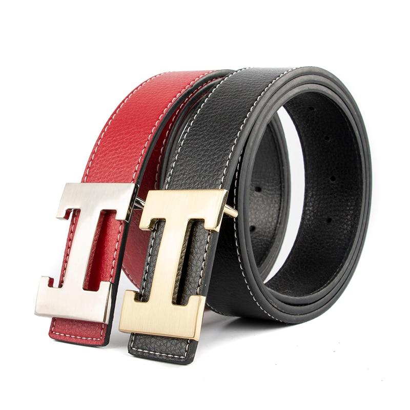 Luxury Designer H Brand Designer   Belts   Men High Quality Male Genuine Real Leather Women   Belt   H Buckle Strap for Jeans Red