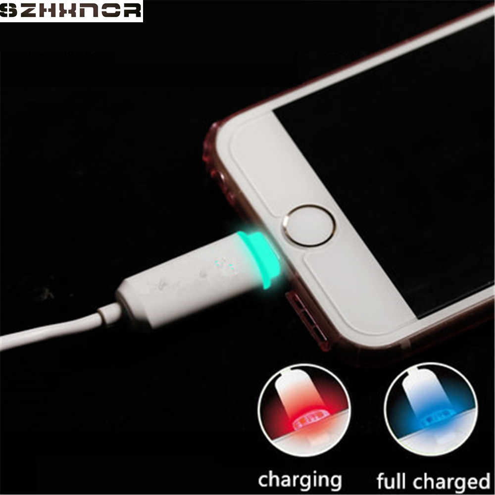 SZHXNOR 1M white 8 pin IOS 10 Smart LED Wire Sync Data Charger USB USB for iPhone 7 8 X 6s 6 plus iPhone 5 iPod nano touch