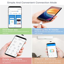 Micro USB Type-C Mobile Phone Remote Controller Smart App Wireless Infrared Appliances Adapter for TV Air Conditioner