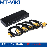 Mt Viki 4 Port DVI Switch with Audio Auto Hotkey Switcher Mouse Keyboard 4 PC 1 Monitors with Original Cable MT 2104DL
