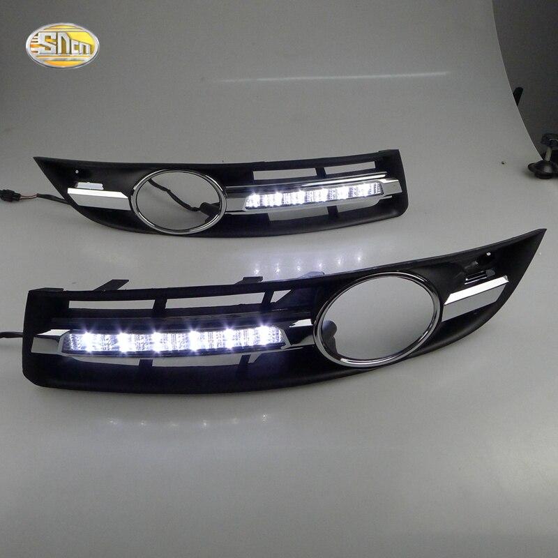 SNCN LED Feux de jour pour Volkswagen Vw Passat B6 2007 2008 2009 2010 2011 DRL Brouillard couvercle de la lampe de conduite lumières