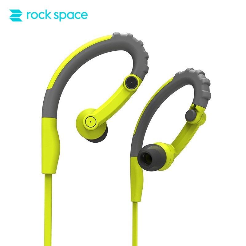 ROCKSPACE Sports Earphone Y6 Sweatproof In Ear Earbuds for iPhone 6S Running Workout Headphones w/ Mic Noise Cancelling Earpods moxpad x3 in ear earphone w mic for iphone htc more black 3 5mm jack 135cm