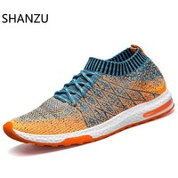Men Sock Casual Shoes Footwear Sneakers Breathable Mesh For Men Flyknit Lightweigh Trainers Female 932