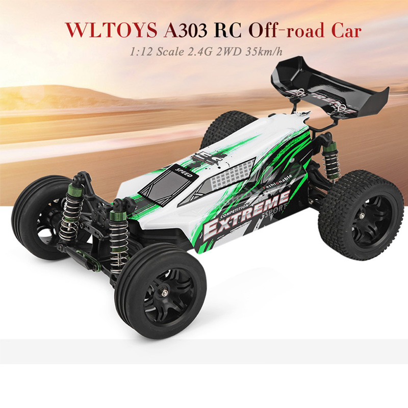 цена на High Speed RC Car 1:12 Scale 2.4G 2WD 35km/h Rechargeable RC Off-road Electric Car RTR RC Cars Vehicle Toy WLTOYS A303 VS A959