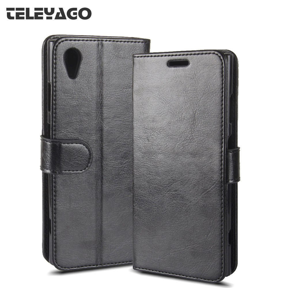 for Sony Xperia XA1 Plus Dual Case, Business Flip PU Leather Case Wallet Card Hold ID Slot Kickstand Cover 5.5 inch Shell Bag