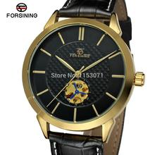 FSG8083M3G2 Brand new l  Men's Automatic luxury promotion dress  watch with black  leather strap with gift box  free shipping