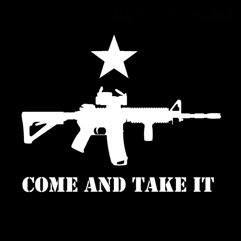 Wholesale Lot of 6 Texas Come and Take It Black//White Decal Bumper Sticker