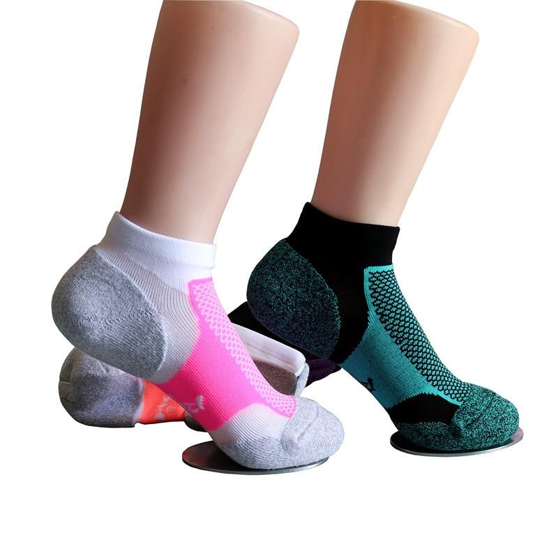 1 Pair Women Yoga Socks Anti Slip Silicone Gym Pilates Ballet Socks Fitness Sport Socks Cotton Breathable Elasticity