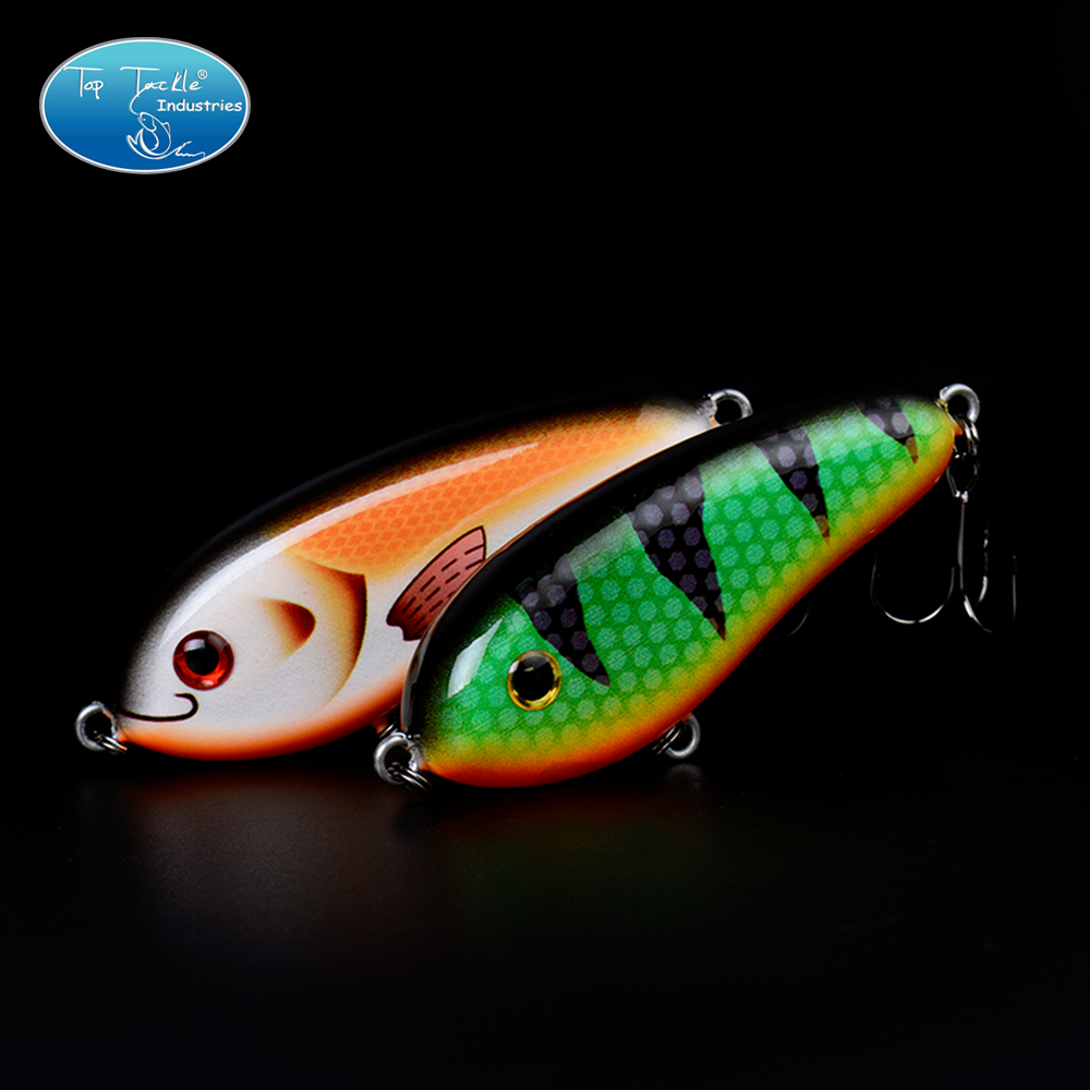 Slow Sinking Artificial Jerk Bait Pike Taimen Chum fishing lure JerkBait LITTLE DARLING (80mm 28g)-With Treble Hooks