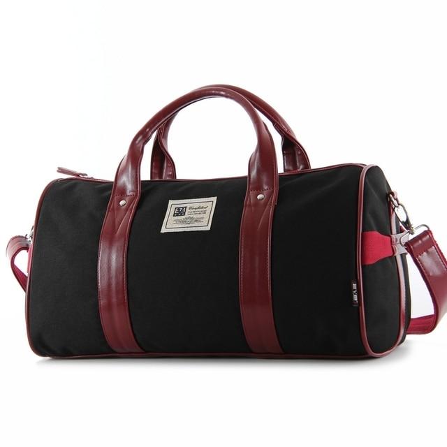2014 Novos Chegada de Moda Coreana Curta Viagem Duffle Viagem Nylon saco para Homens e Mulheres de Negócios Saco de Viagem Corpo Cruz saco