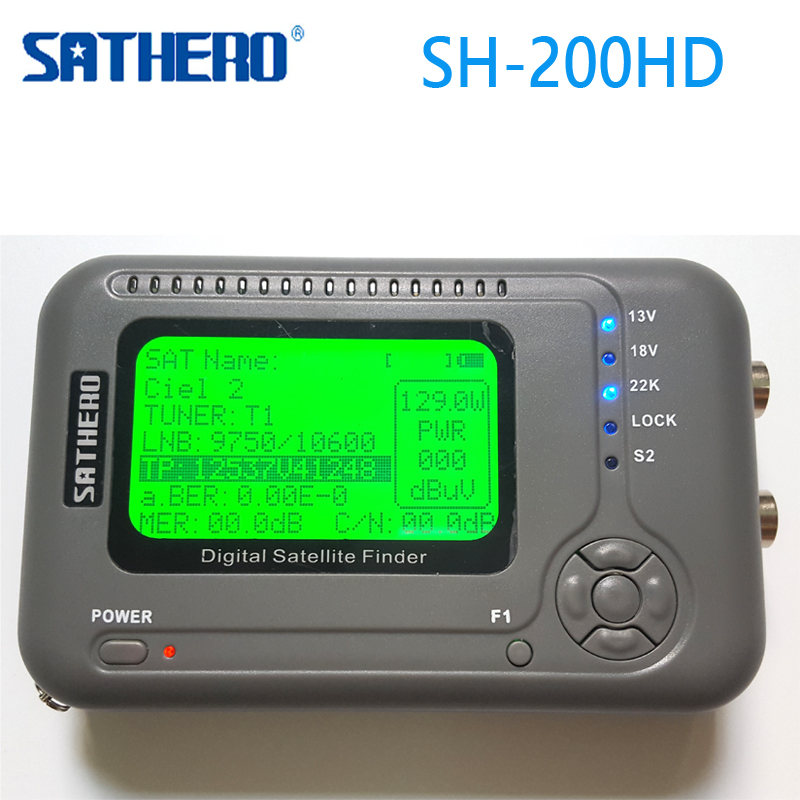 [Genuine] Sathero SH-200HD DVB-S2 Digital Satellite Finder Meter Sat Finder 200HD High Definition USB 2.0 Spectrum analyzer sathero sh 200 2 6 dvb s2 dvb s hd digital satellite finder deep grey silver