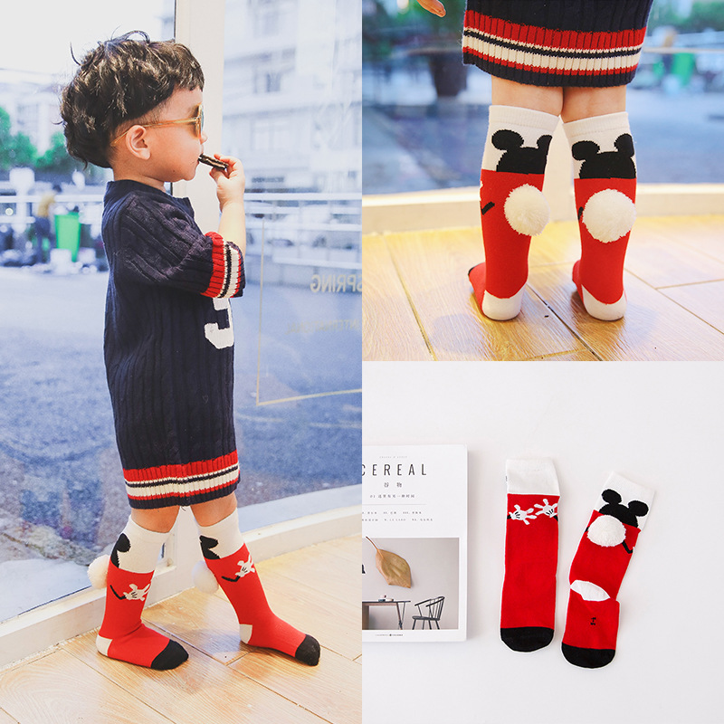 a40ff818d05a Brand Cotton kids Socks Fashion Cute mouse soft warm socks toddler knee  high socks for boys girls 1 6Y-in Socks from Mother   Kids on  Aliexpress.com ...