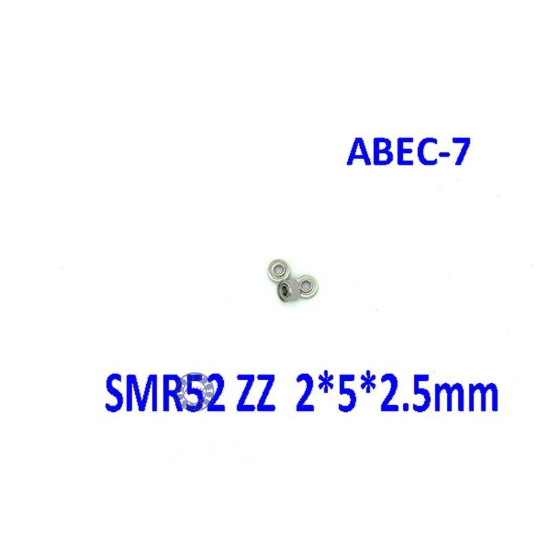 Free Shipping SMR52 ZZ CB ABEC7  2x5x2.5 mm Stainless steel  hybrid ceramic ball bearing 2mm smr52-2z fishing bearing 2*5*2.5mm free shipping 4x7x2 5 metal shields bearings abec 7 stainless steel smr74 zz