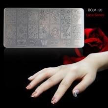 BC-1 PCS Nail Art Stamper Plate DIY Plastic Nail Tool Gel Polish Printer Transfer Nail Decoration Decorator