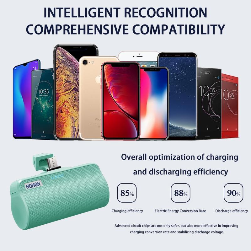 NOHON Wireless Mini 3000mAh Power Bank Charger For iPhone Xiaomi Huawei Samsung 2