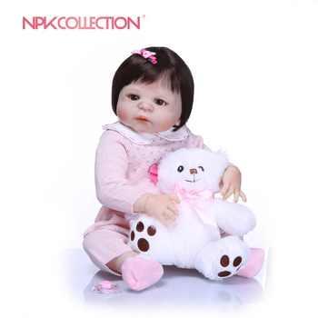 NPKCOLLECTION 23 ''เกิดใหม่ซิลิโคนไวนิลตุ๊กตาเด็กเจ้าหญิง Realistia ตุ๊กตา 57 เซนติเมตรเด็กวันเกิดของขวัญ Bebes เกิดใหม่ตุ๊กตา