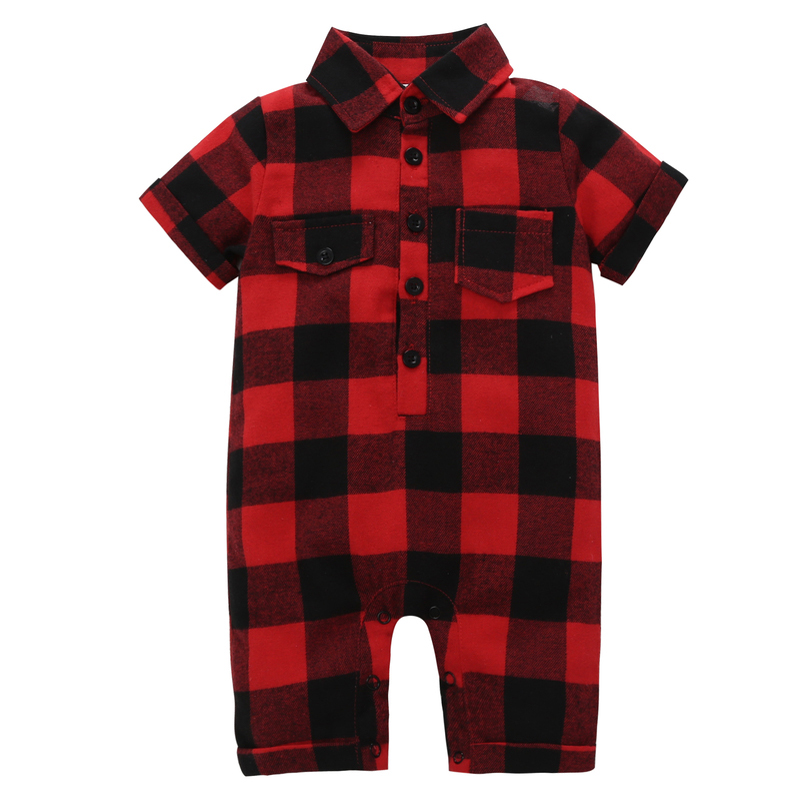 HTB1G1vtjtzJ8KJjSspkq6zF7VXay kid boy girl Long Sleeve Hooded Fleece jumpsuit overalls red plaid Newborn baby winter clothes unisex new born costume 2019