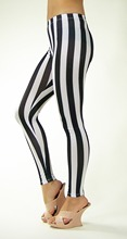 Spandex Zebra Vertical Stripe Print Leggings