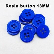100 шт 13 мм перламутровая крашеная смоляная рубашка Сапфировая Синяя кнопка свитер украшение garmen пуговицы пальто швейная одежда аксессуары PN-001