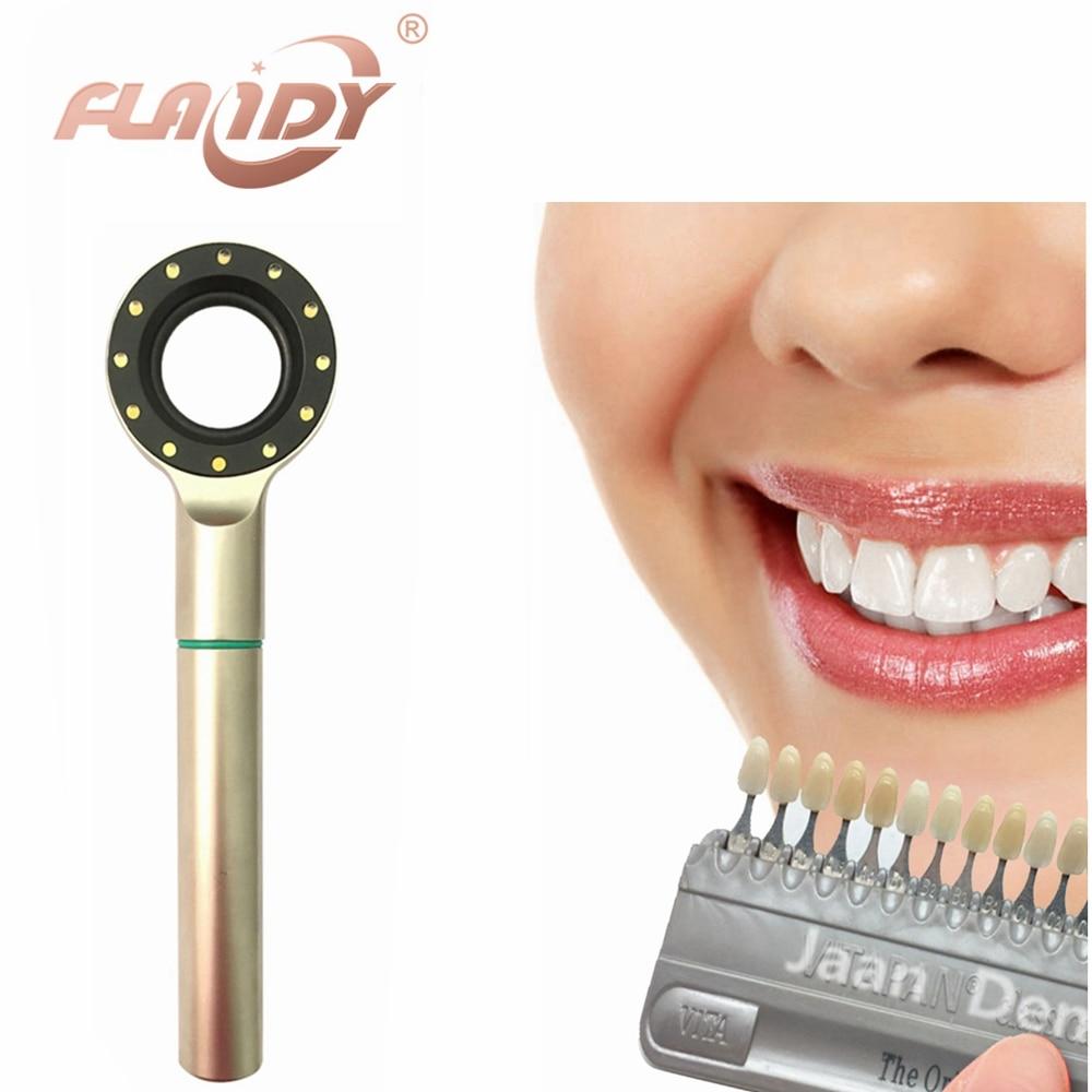 A0015 Teeth Hand-held LED Dental Shade Matching Light for Teeth Whitening and Ceramic Buildup hot teeth development models teeth and jaw development model dental teeth models