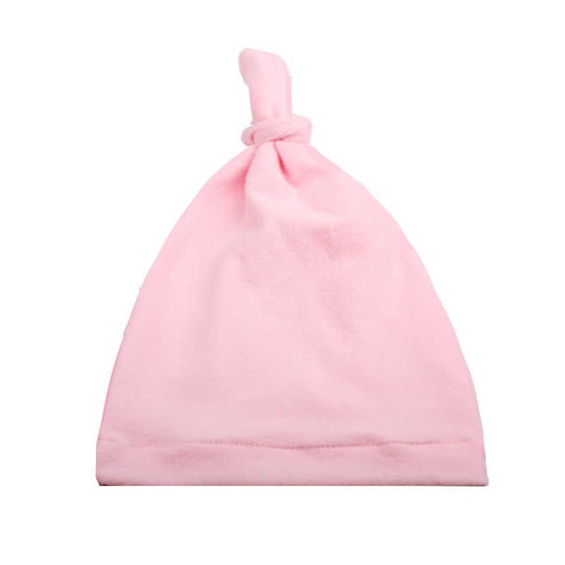 2019 เด็กอุปกรณ์เสริมร้อน Knotted หมวกเด็กแฟชั่นเฉียบพลันมุมหมวกเด็กหมวกโรงพยาบาลหมวกนุ่ม