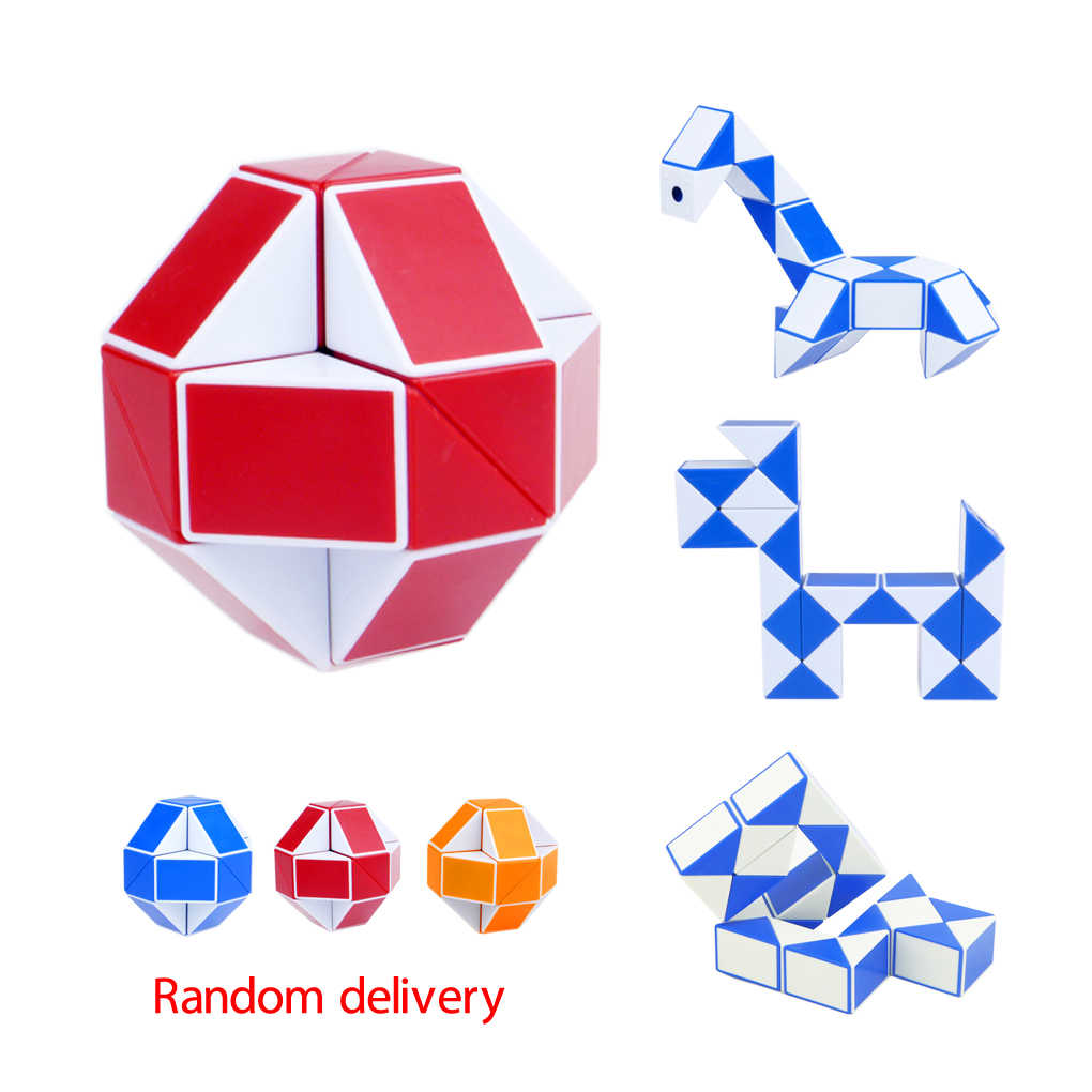 ae3a3cdf60db0 1/3pcs Magic Snake Shape Cube Puzzle Toy Christmas Gifts Cool Snake Magic  Variety Popular Twist Kids Game Transformable puzzle