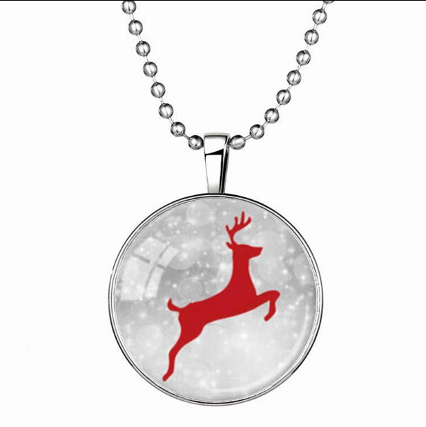Lighted christmas necklace deer pattern pendant glow merry christmas  snowflake necklace flashing 2015 snowman necklace christmas-in Pendant  Necklaces from ... - Lighted Christmas Necklace Deer Pattern Pendant Glow Merry Christmas