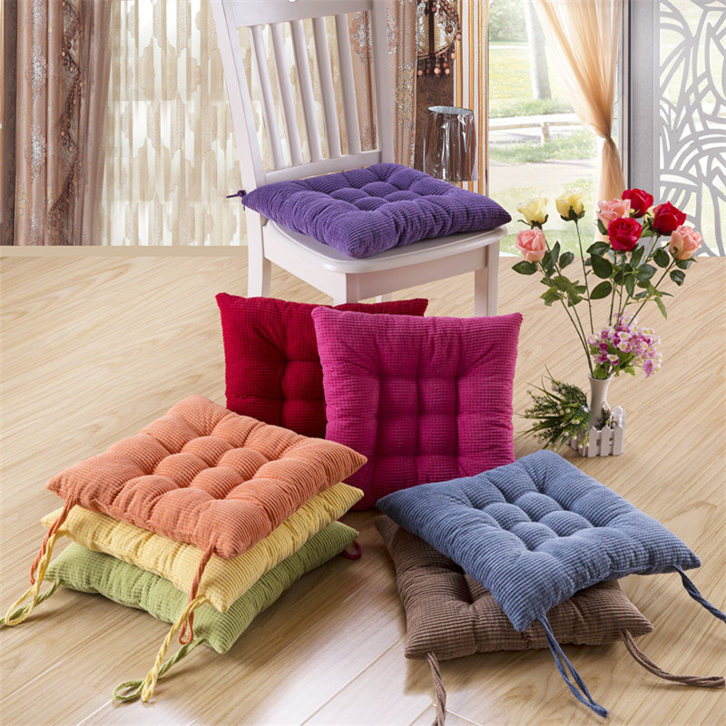 Free Shipping 40 40cm Chair Pad Cushion Pearl Cotton: 1pcs 40x40cm Home Office Soft Polyester Square Thick