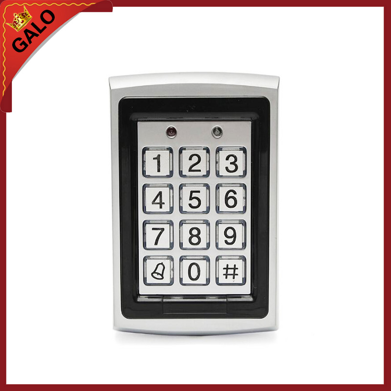 Metal Rfid Access Control Keypad Support 1000 Users 125KHz ID Card Reader Electric Digital Password Door Lock wg input rfid em card reader ip68 waterproof metal standalone door lock access control with keypad support 2000 card users