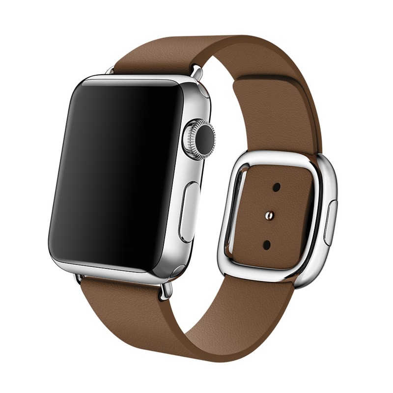 EIMO Genuine modern buckle for Apple watch band strap 42mm/38mm Leather bracelet wrist belt watchband for iwatch series 3 2 1