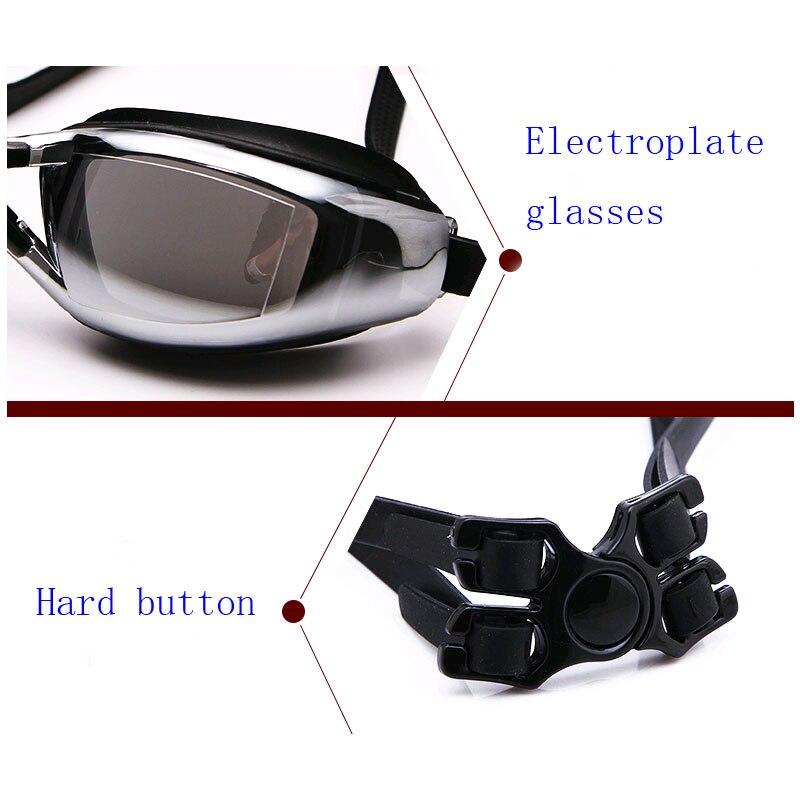 Mens Myopia Prescription Silicone Swim Glasses Anti-Fog And Waterproof Adult Professional Swim Eyewear 3