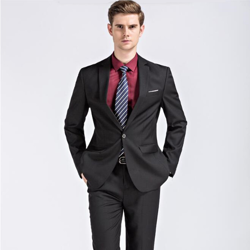 new2018 men\'s suits Custom made Men Suit fashion handsome Blue ...