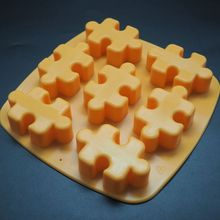 1 pcs no-stick silicone jigsaw form mold ice chocolate fondant Cake DIY creative cooking tool for candy pudding chocolate