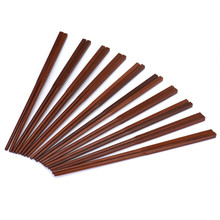 10 Pairs Natural Wood Asian Chinese Chopsticks Set Healthy Wooden Chop Stick Red sandalwood reusable chopsticks
