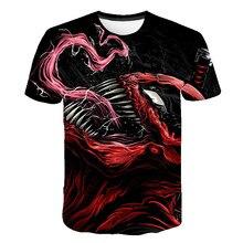 Newest Venom t-shirt 3D Printed T-shirts Men Women Casual Shirt Short Sleeve Fitness T Deadpool Tees Spider man Skull Tops