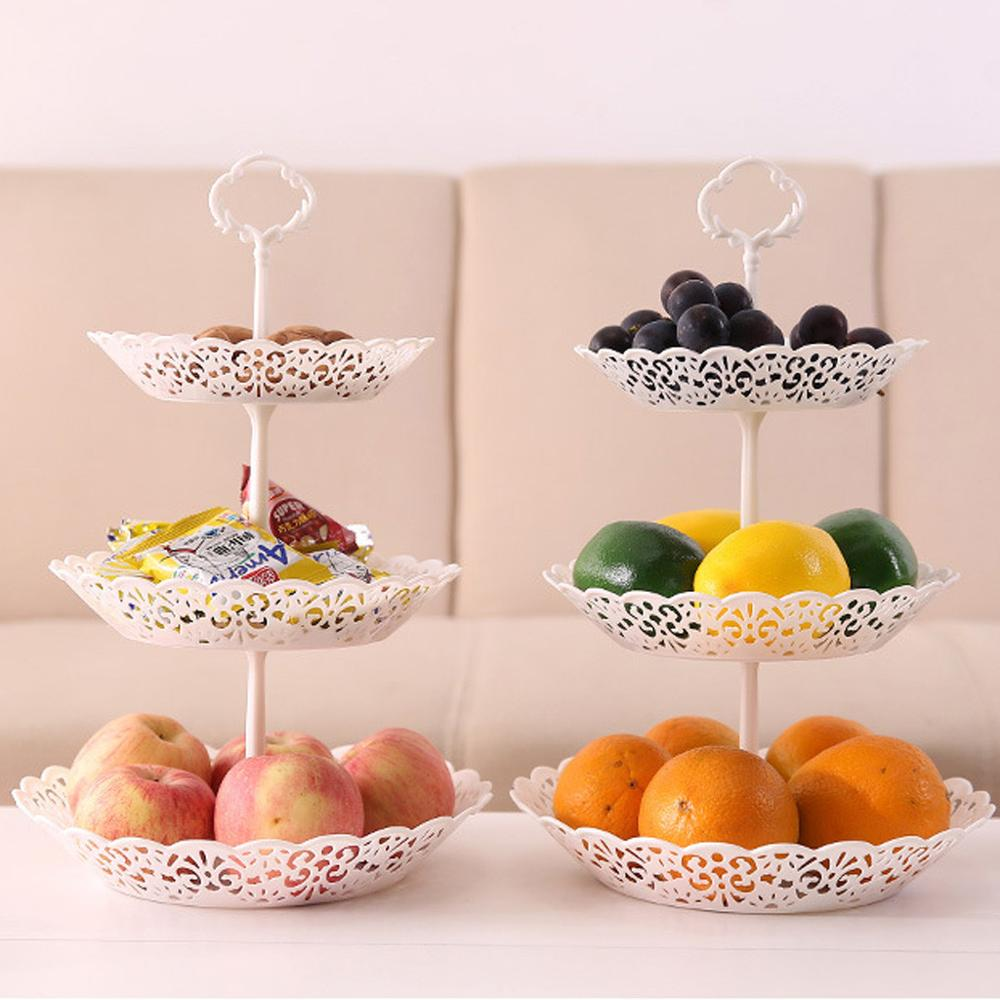 3 Tier Wedding Birthday Party Cake Plate Afternoon Tea Dessert Stand Tray Fruit