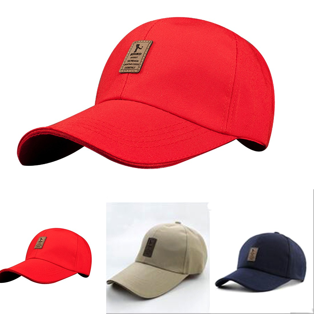 7fce1538fb7 Hot Sale Unisex baseball Cap Women Men Summer Spring Cotton Caps Solid  Adult Cap Different Colors