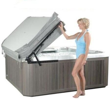 Jupe de levage de couverture de bain à remous de qualité + expédition rapide + support en aluminium (tige pneumatique)