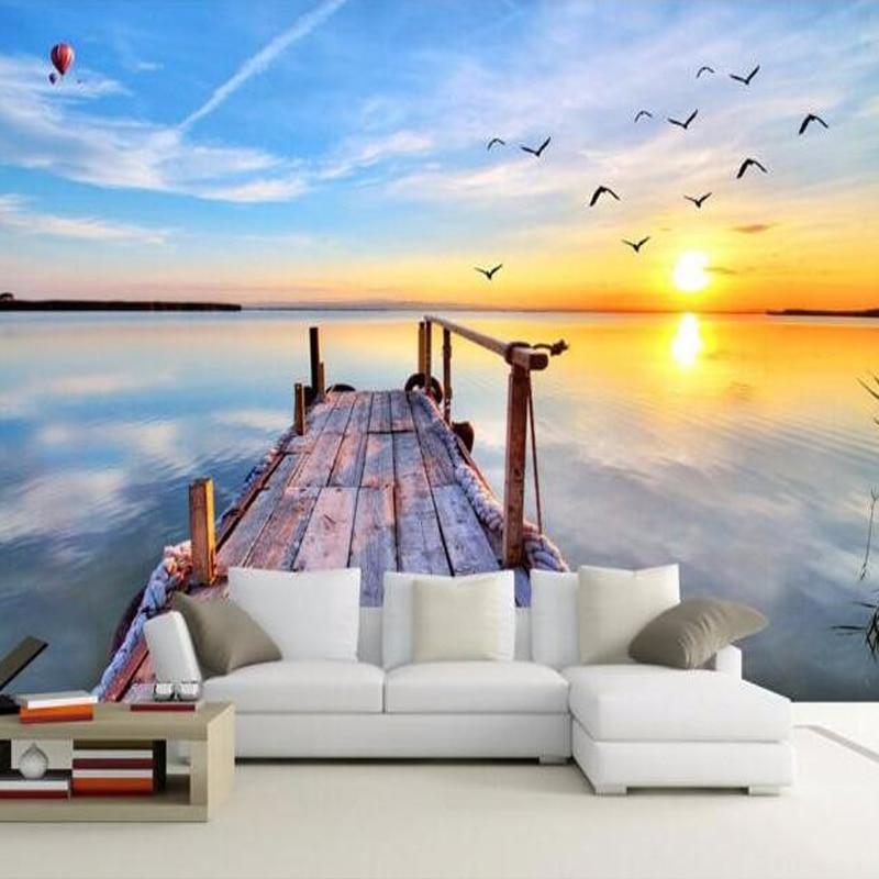 personnalis 3d photo papier peint 3d nature paysage vue. Black Bedroom Furniture Sets. Home Design Ideas