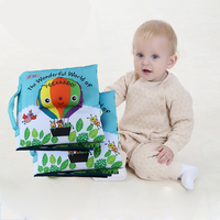 Hot Selling Newest Baby Early Teach Cloth Book Not Rotten 3 18 Months Baby Stereo Touch Cloth Book Puzzle Toys Early Educational
