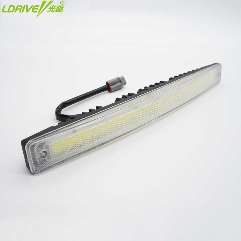LDRIVE 2 uds LED luces de circulación diurna de coche DC 12V 6000k luz antiniebla luces de conducción coche-syling ultra brillante