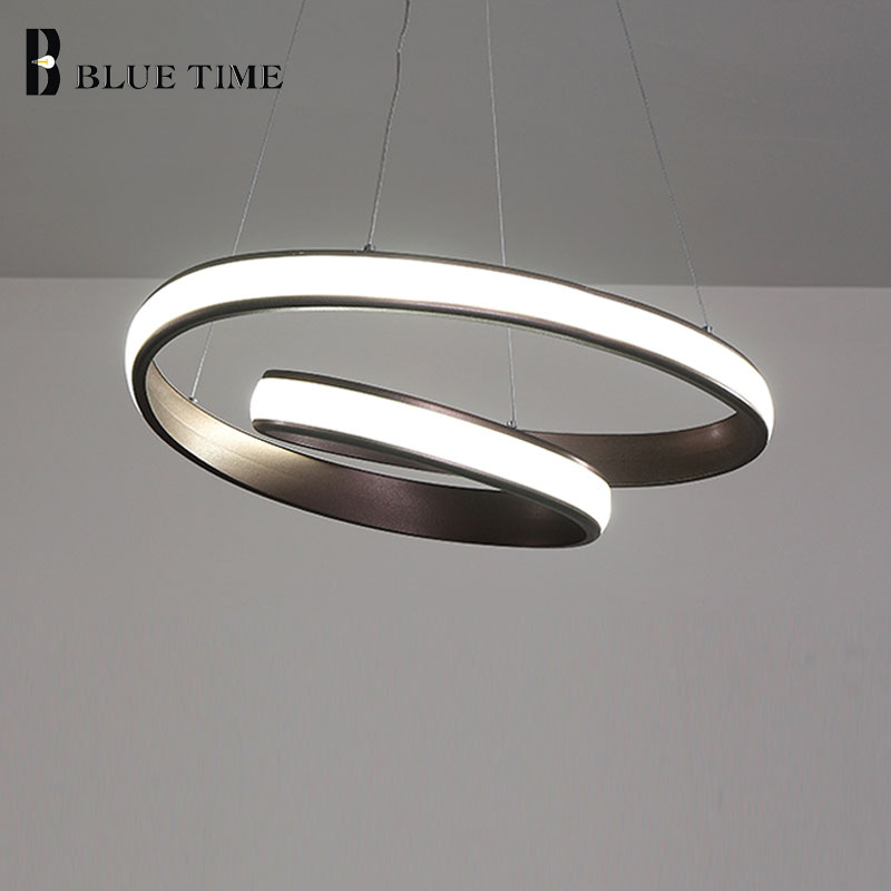 Modern Circle LED chandeliers For Dining Room Living Room Bedroom Coffee Room Lustures LED Pendant chandelier Lighting Fixtures circle new modern led pendant light for dining room living room bedroom study room lustures led pendant lamps lighting fixtures