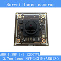 "1.3MP 1280 * 960 AHD AR0130 CCTV 960P mini night vision Camera Module 1/3 ""CM 3.7mm lens 92 degrees surveillance camera"
