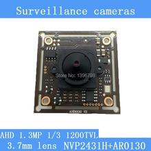 """AR0130 1,3-МЕГАПИКСЕЛЬНАЯ 1280*960 AHD ВИДЕОНАБЛЮДЕНИЯ 960 P мини ночного видения Модуль Камеры 1/3 """"СМ 3.7 мм объектив 92 градусов камеры наблюдения"""