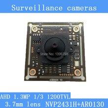 "1.3MP 1280 * 960 AHD AR0130 CCTV 960P mini night vision Camera Module 1/3 ""CM 3.7mm lens 92 degrees surveillance camera"