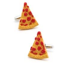 Запонки iGame для пиццы, желтый цвет, качественный латунный материал, новинка, дизайн еды
