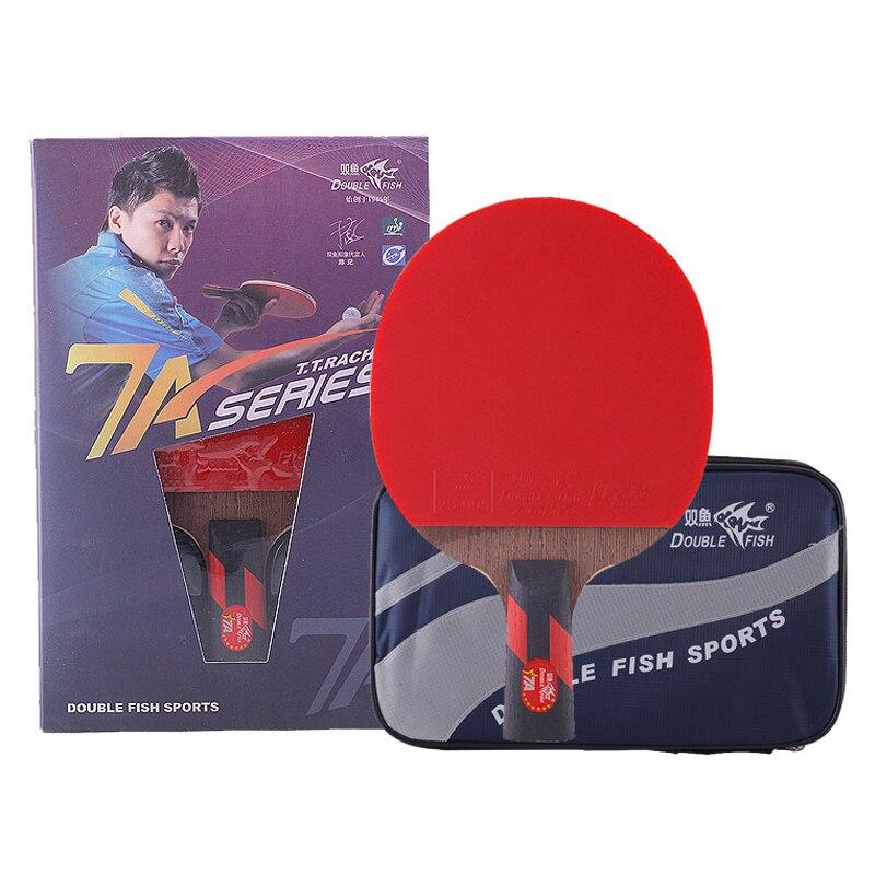 ダブル魚マスター 7A 卓球バットピンポンラケットラケットスポーツカーボンブレード高速攻撃ループ Raquete デ Ping ピンポン  グループ上の スポーツ & エンターテイメント からの 卓球ラケット の中 1